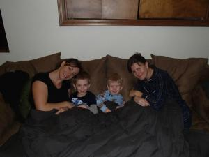 Little sis, my nephew, her nephew, and me