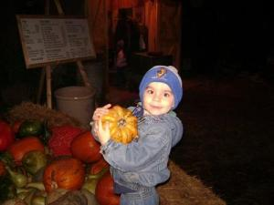 The big guy when he was 3, with a pumpkin to call his very own