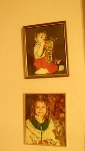 Little sis and I. Those pictures have never moved, not in all the years I've known my Grandma